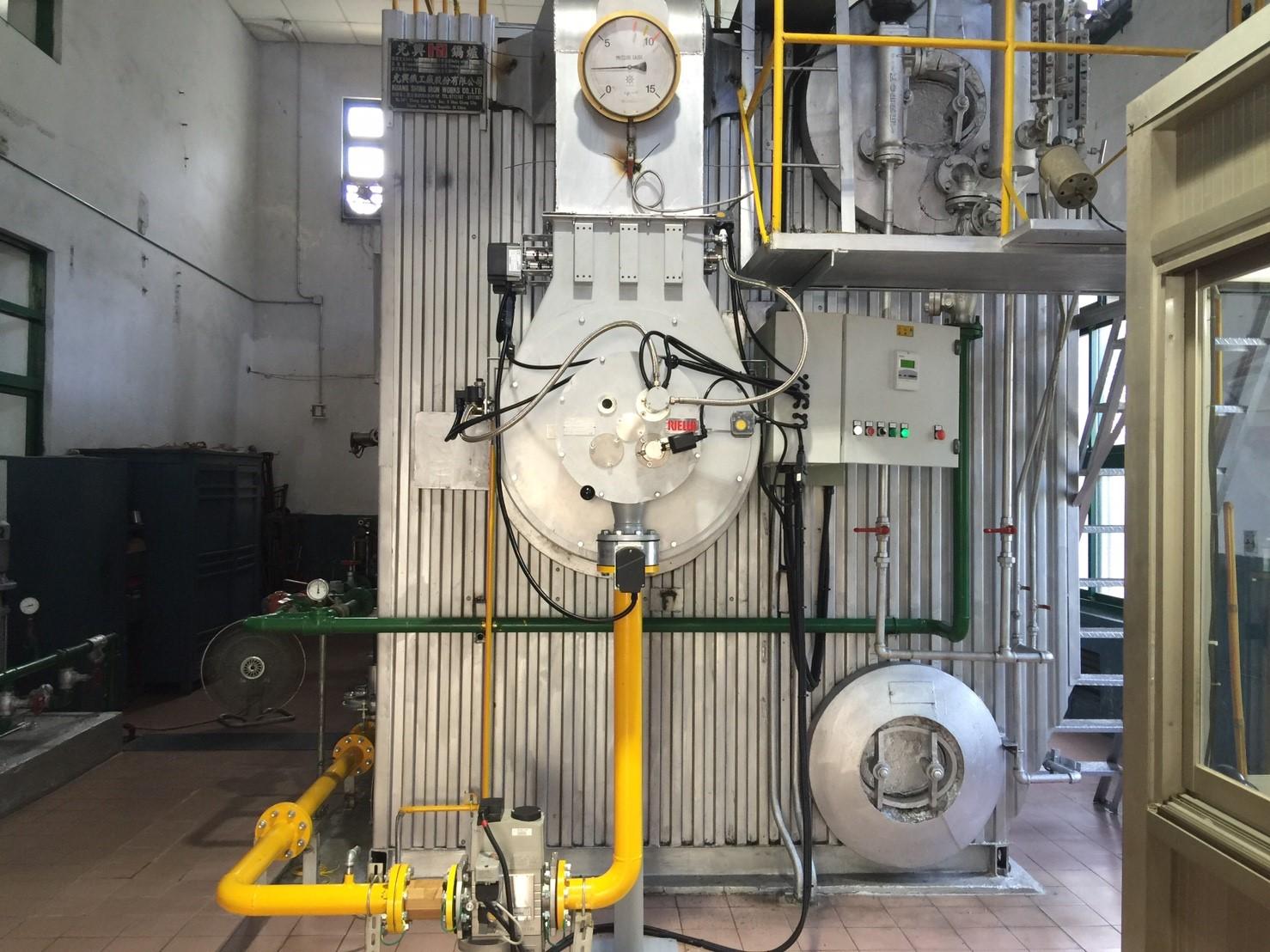 菸廠-水管式蒸氣鍋爐-重油燃燒設備更換成天然氣燃燒設備工程-一號爐